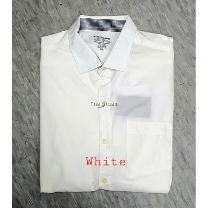 Blue Man White Short Sleeve Shirt