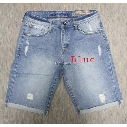 Blue Man knee length bermuda